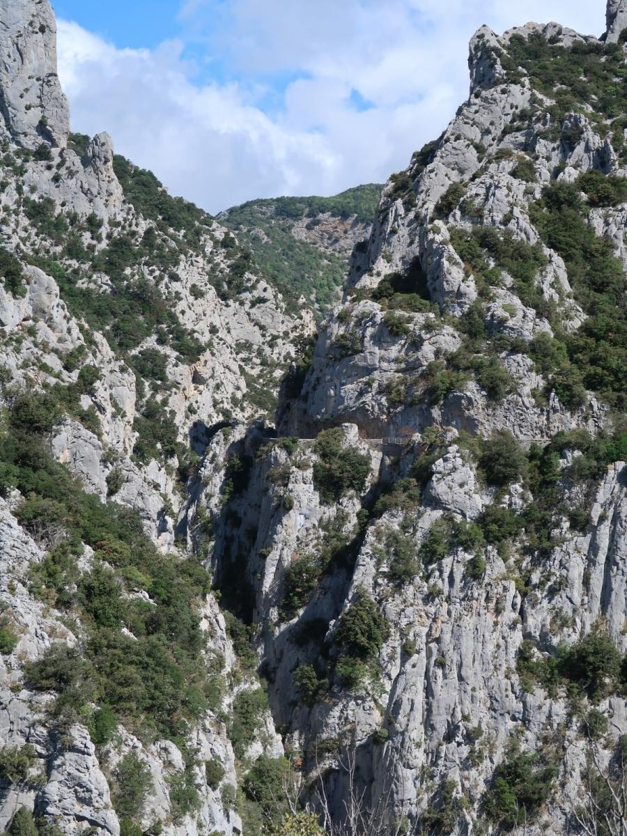 Strasse am Gorges de Galamus