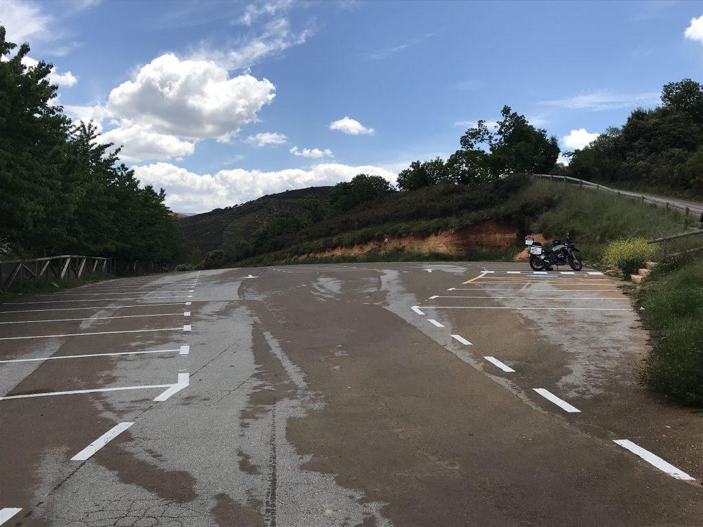 Parkplatz am Mirador de Orellán